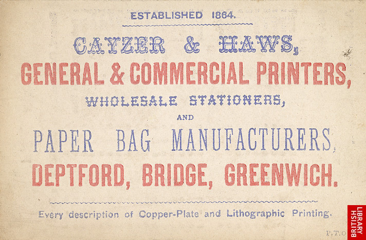 Advert For Cayzer & Haws, Printers